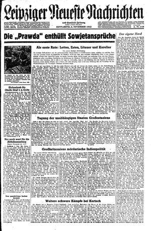 Leipziger neueste Nachrichten und Handelszeitung  vom 06.11.1943
