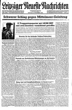 Leipziger neueste Nachrichten und Handelszeitung  vom 08.11.1943