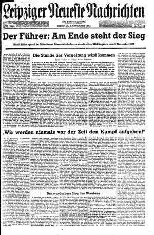 Leipziger neueste Nachrichten und Handelszeitung  vom 09.11.1943
