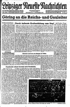 Leipziger neueste Nachrichten und Handelszeitung  vom 11.11.1943