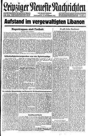 Leipziger neueste Nachrichten und Handelszeitung  on Nov 13, 1943