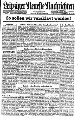 Leipziger neueste Nachrichten und Handelszeitung  vom 14.11.1943