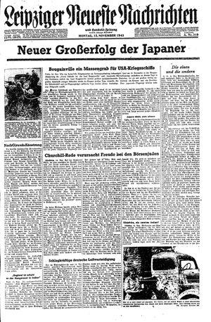Leipziger neueste Nachrichten und Handelszeitung  vom 15.11.1943