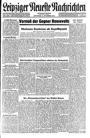Leipziger neueste Nachrichten und Handelszeitung  on Nov 17, 1943