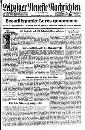 Leipziger neueste Nachrichten und Handelszeitung  vom 18.11.1943