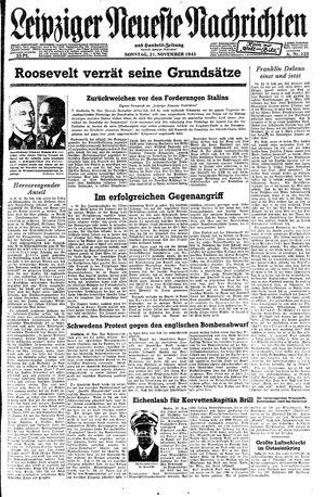 Leipziger neueste Nachrichten und Handelszeitung  vom 21.11.1943
