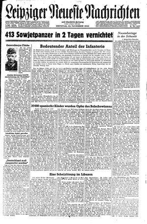 Leipziger neueste Nachrichten und Handelszeitung  vom 23.11.1943