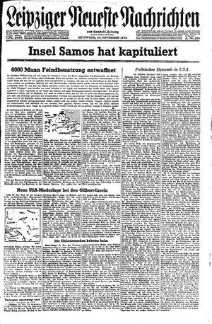 Leipziger neueste Nachrichten und Handelszeitung  on Nov 24, 1943