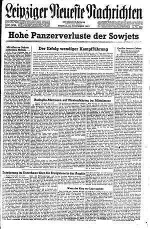 Leipziger neueste Nachrichten und Handelszeitung  vom 26.11.1943