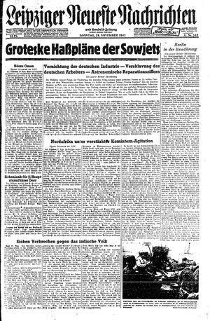 Leipziger neueste Nachrichten und Handelszeitung  vom 28.11.1943
