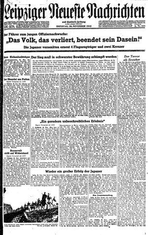 Leipziger neueste Nachrichten und Handelszeitung  vom 30.11.1943
