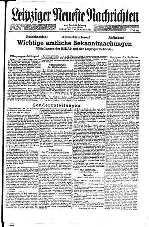 Leipziger neueste Nachrichten und Handelszeitung  on Dec 7, 1943