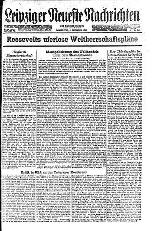 Leipziger neueste Nachrichten und Handelszeitung  vom 09.12.1943