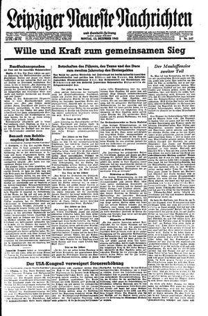 Leipziger neueste Nachrichten und Handelszeitung  vom 13.12.1943
