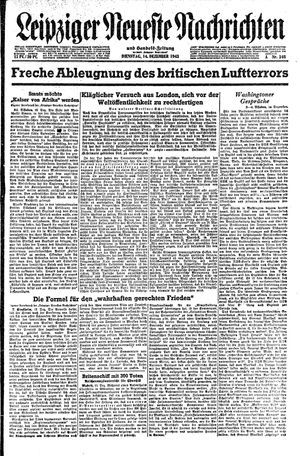 Leipziger neueste Nachrichten und Handelszeitung  vom 14.12.1943