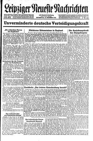 Leipziger neueste Nachrichten und Handelszeitung  vom 16.12.1943