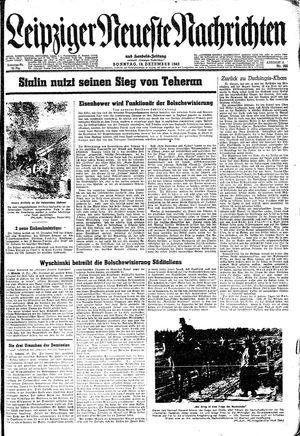Leipziger neueste Nachrichten und Handelszeitung  vom 19.12.1943