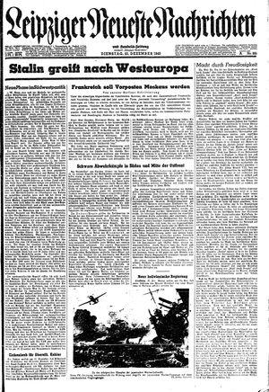 Leipziger neueste Nachrichten und Handelszeitung  vom 21.12.1943