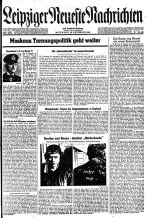 Leipziger neueste Nachrichten und Handelszeitung  vom 22.12.1943