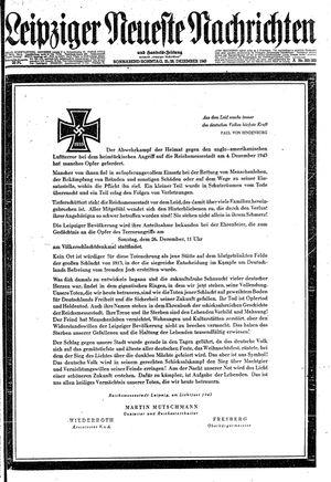 Leipziger neueste Nachrichten und Handelszeitung  vom 25.12.1943