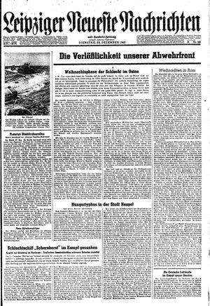 Leipziger neueste Nachrichten und Handelszeitung  vom 28.12.1943
