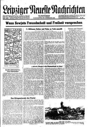 Leipziger neueste Nachrichten und Handelszeitung  vom 30.12.1943