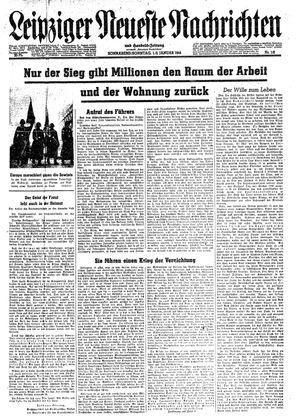 Leipziger neueste Nachrichten und Handelszeitung  vom 01.01.1944