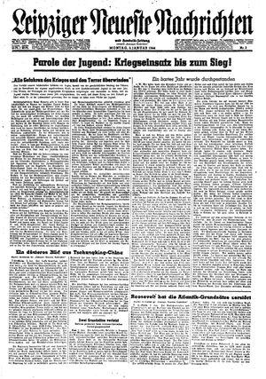 Leipziger neueste Nachrichten und Handelszeitung  vom 03.01.1944