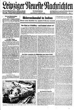 Leipziger neueste Nachrichten und Handelszeitung  vom 05.01.1944