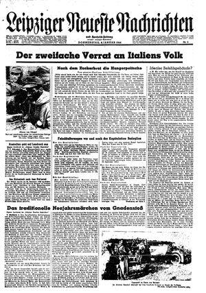 Leipziger neueste Nachrichten und Handelszeitung  vom 06.01.1944