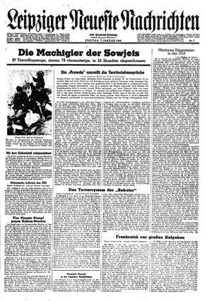 Leipziger neueste Nachrichten und Handelszeitung  vom 07.01.1944