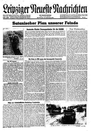 Leipziger neueste Nachrichten und Handelszeitung  vom 10.01.1944