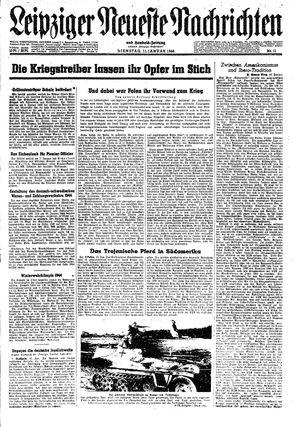Leipziger neueste Nachrichten und Handelszeitung  vom 11.01.1944