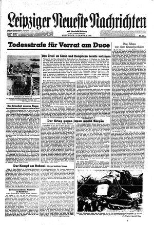 Leipziger neueste Nachrichten und Handelszeitung  on Jan 12, 1944