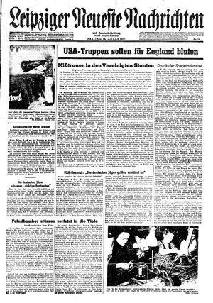 Leipziger neueste Nachrichten und Handelszeitung  vom 14.01.1944