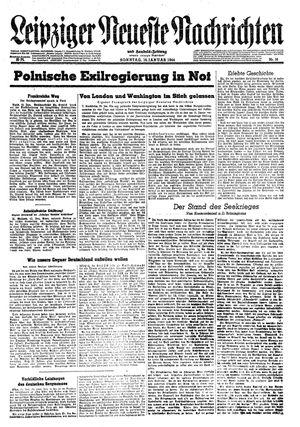 Leipziger neueste Nachrichten und Handelszeitung  vom 16.01.1944