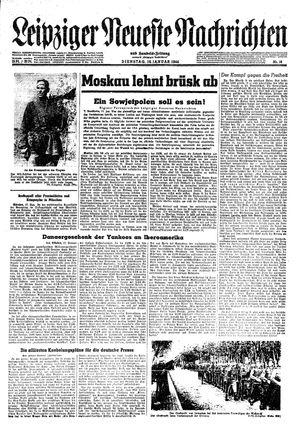 Leipziger neueste Nachrichten und Handelszeitung  on Jan 18, 1944