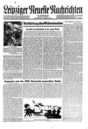 Leipziger neueste Nachrichten und Handelszeitung  on Jan 19, 1944