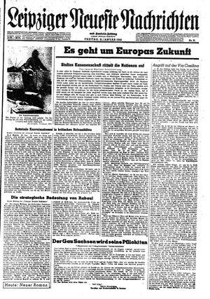 Leipziger neueste Nachrichten und Handelszeitung  vom 21.01.1944