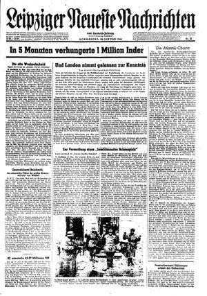 Leipziger neueste Nachrichten und Handelszeitung  vom 22.01.1944