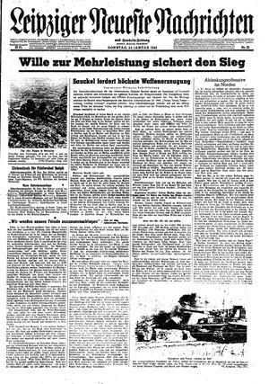 Leipziger neueste Nachrichten und Handelszeitung  vom 23.01.1944