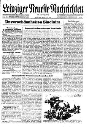 Leipziger neueste Nachrichten und Handelszeitung  vom 24.01.1944