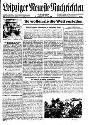 Leipziger neueste Nachrichten und Handelszeitung  vom 25.01.1944