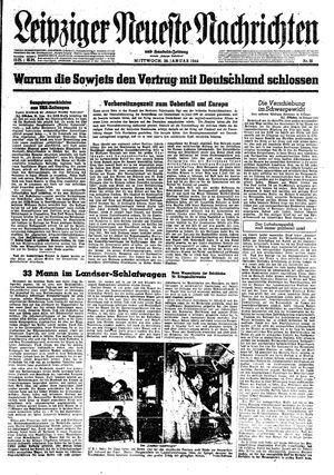 Leipziger neueste Nachrichten und Handelszeitung  vom 26.01.1944