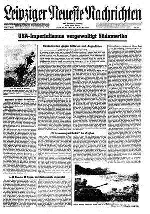 Leipziger neueste Nachrichten und Handelszeitung  vom 27.01.1944