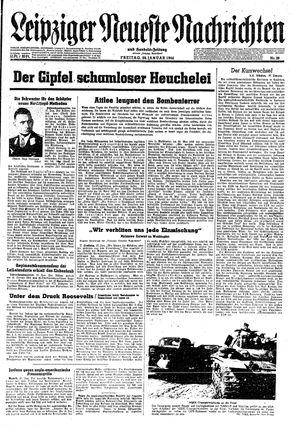 Leipziger neueste Nachrichten und Handelszeitung  vom 28.01.1944