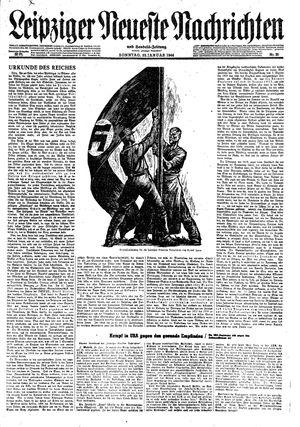 Leipziger neueste Nachrichten und Handelszeitung  vom 30.01.1944