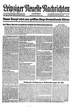 Leipziger neueste Nachrichten und Handelszeitung  vom 31.01.1944