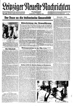 Leipziger neueste Nachrichten und Handelszeitung  vom 01.02.1944