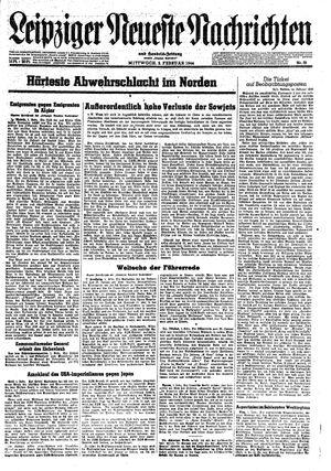 Leipziger neueste Nachrichten und Handelszeitung  vom 02.02.1944